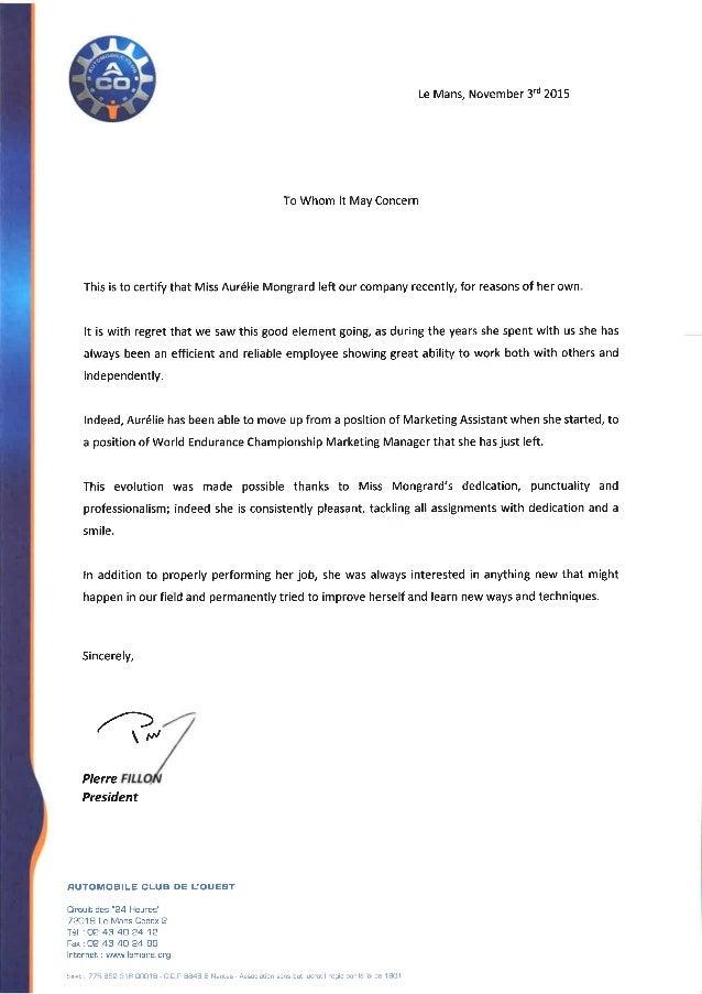 ACO_Recommandation Letter 2015