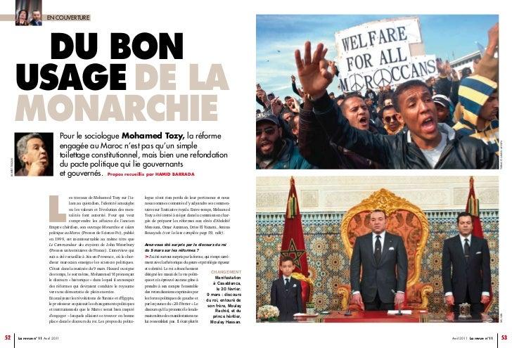 EN COUVERTURE                    Du bon                  usage De La                  monarchie                           ...