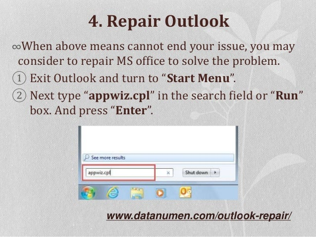 6 Means to Fix Outlook Error