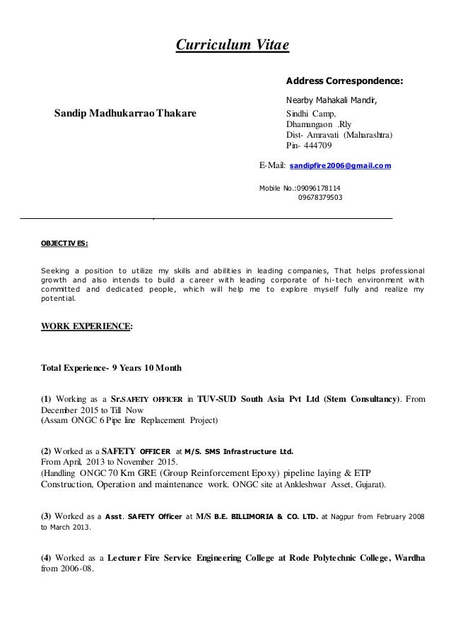 Sandip Resume