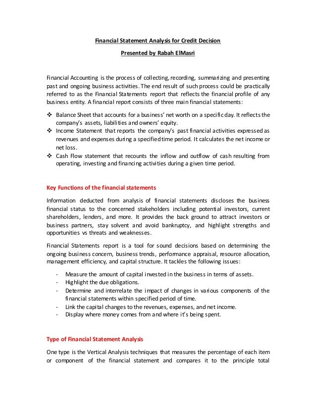 Financial statement analysis for investment decisions in financial management mazda vest