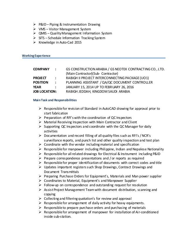  P&ID – Piping & Instrumentation Drawing  VMS – Visitor Management System  QMIS – Quality Management Information System...