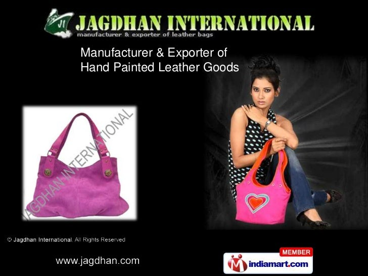 Manufacturer & Exporter ofHand Painted Leather Goods