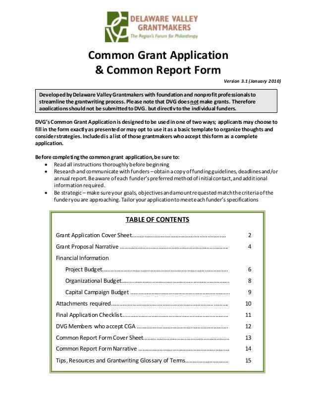 Final Grant Proposal – Grant Report Form
