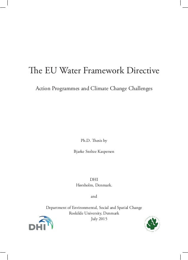 Phd thesis on water