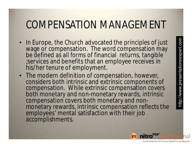 Intrinsic Compensation
