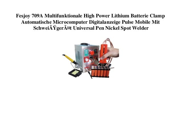 Fesjoy 709A Multifunktionale High Power Lithium Batterie Clamp Automatische Microcomputer Digitalanzeige Pulse Mobile Mit ...