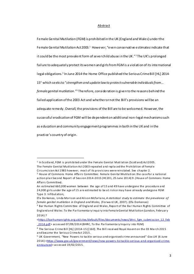 literature based dissertation on fgm
