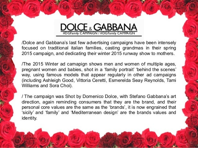 Dolce and Gabbana Presentation 5305ecf12e3
