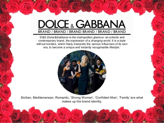 4953ca6343b Dolce and Gabbana Presentation