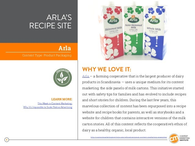8 ARLA'S RECIPE SITE WHY WE LOVE IT: Arla —a farming cooperative that is the largest producer of dairy products in Scandi...