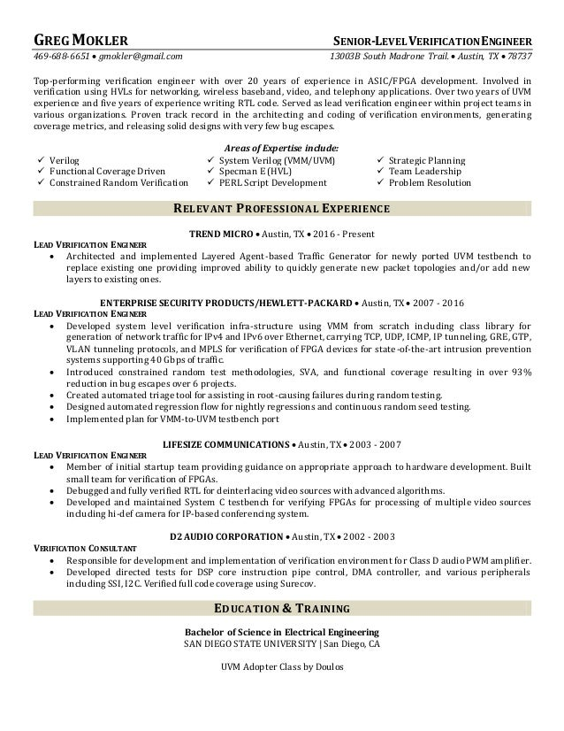 Generous Resume Class San Diego Images - Example Business Resume ...