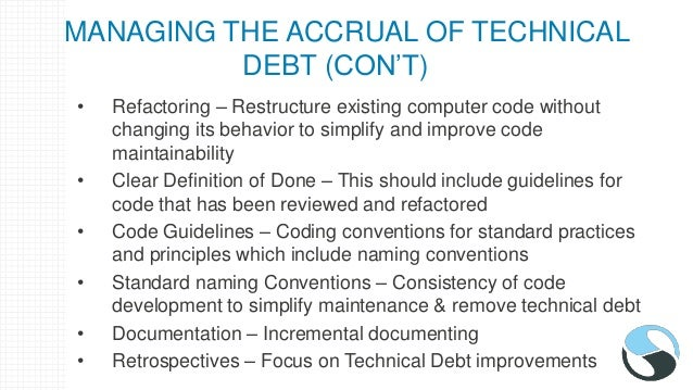 MAKING TECHNICAL DEBT VISIBLE