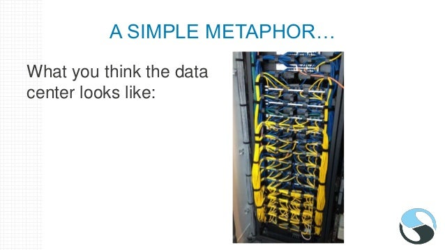 A SIMPLE METAPHOR… What the data center really looks like: