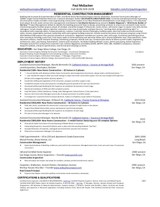 Paul mcgucken const mgmt resume2016u malvernweather Choice Image