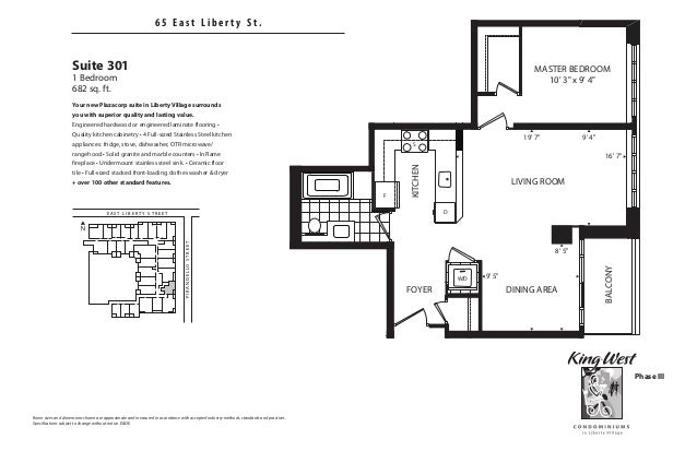 King west condominiums 65 75 85 east liberty condos for 1 king west floor plans
