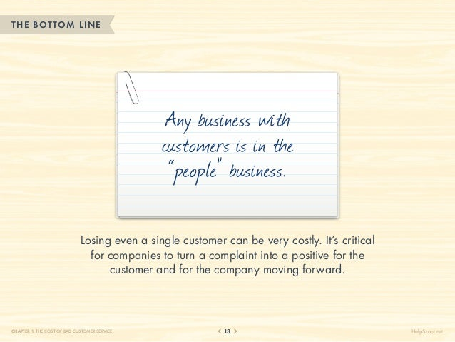 THE BOTTOM LINE                                               Any business with                                           ...