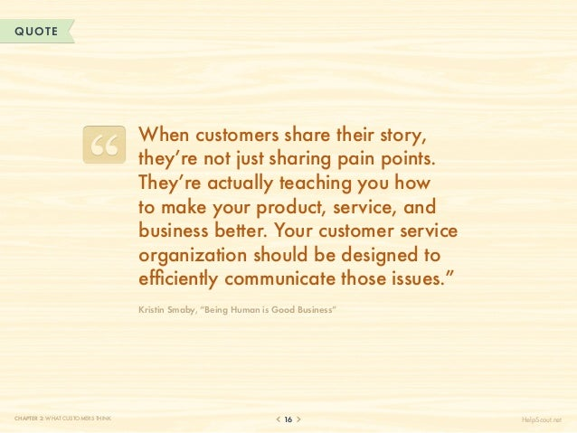 QUOTE                                  When customers share their story,                                  they're not just...