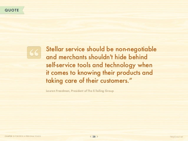QUOTE                                       Stellar service should be non-negotiable                                      ...