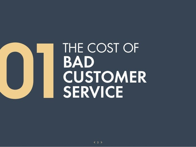 01 THE COST OF BAD CUSTOMER SERVICE     3