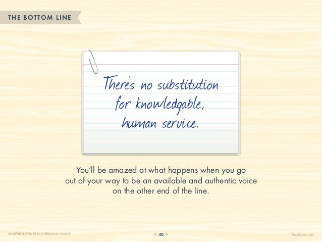 THE BOTTOM LINE                                           T s no substitution                                            h...