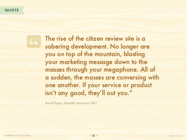 QUOTE                              The rise of the citizen review site is a                              sobering developm...