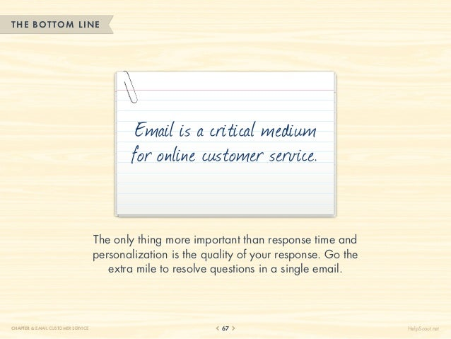 THE BOTTOM LINE                                            Email is a critical medium                                     ...