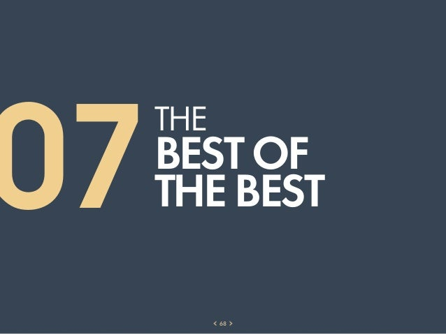 07     THE     BEST OF     THE BEST           68