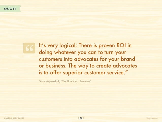 QUOTE                          It's very logical: There is proven ROI in                          doing whatever you can t...