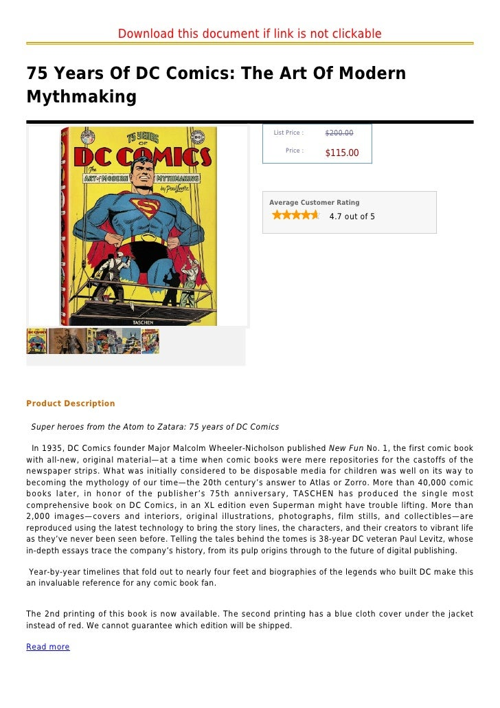 Download this document if link is not clickable75 Years Of DC Comics: The Art Of ModernMythmaking                         ...