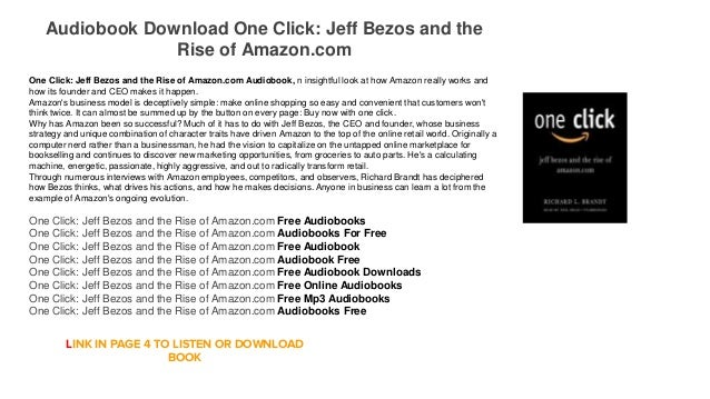 Audiobook Download Android Mp3 One Click: Jeff Bezos and the