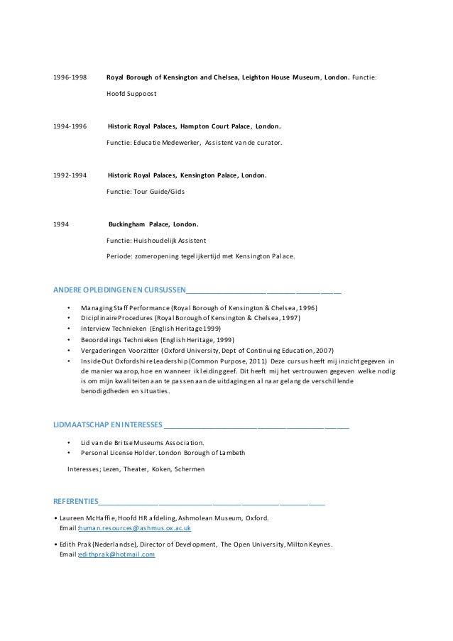 korte cv Korte CV Hugo Penning 2015