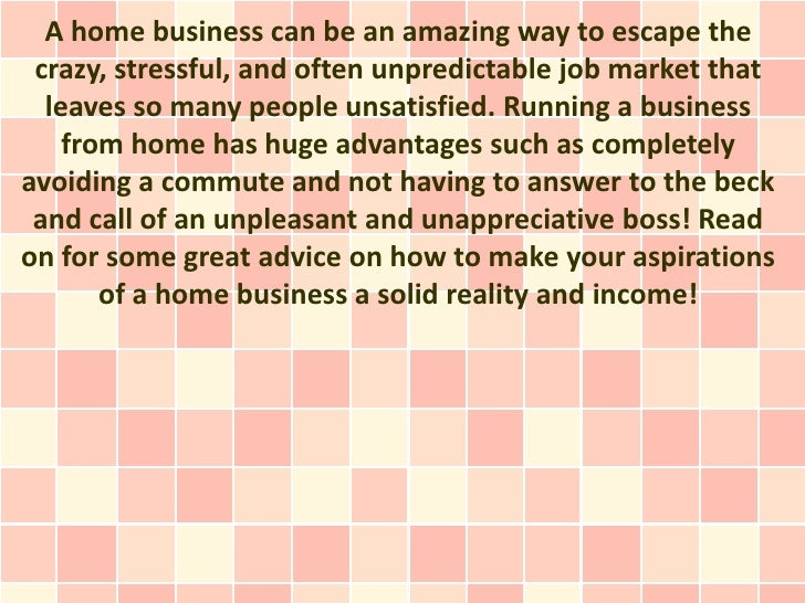 A home business can be an amazing way to escape the crazy, stressful, and often unpredictable job market that  leaves so m...