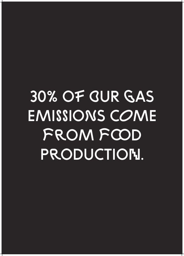 30% OF OUR GAS EMISSIONS COME FROM F D PRODUCTION.