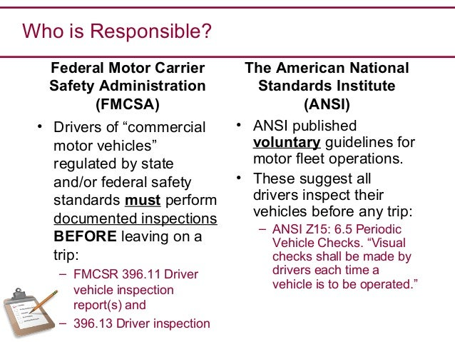 Pre Trip Vehicle Inspection March 2016 V 2