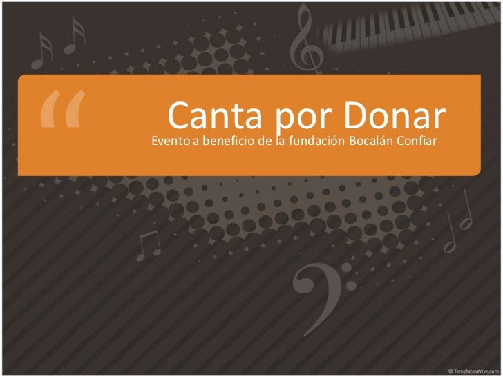 Canta por DonarEvento a beneficio de la fundación Bocalán Confiar
