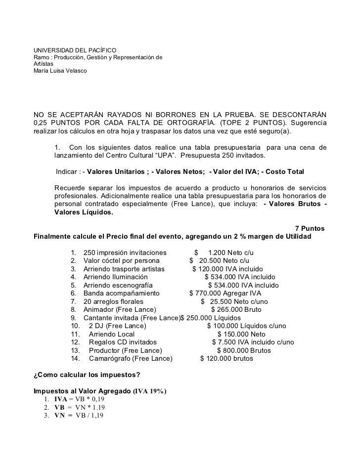 UNIVERSIDAD DEL PACÍFICORamo : Producción, Gestión y Representación deArtístasMaría Luisa VelascoNO SE ACEPTARÁN RAYADOS N...