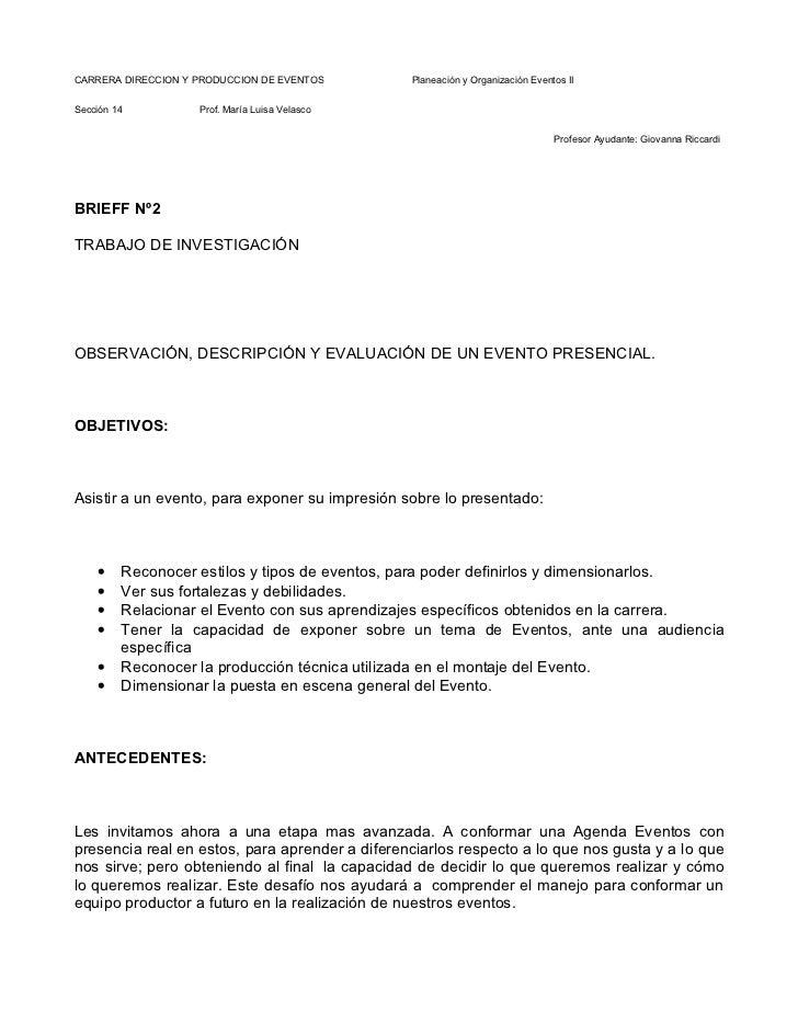 CARRERA DIRECCION Y PRODUCCION DE EVENTOS       Planeación y Organización Eventos IISección 14          Prof. María Luisa ...