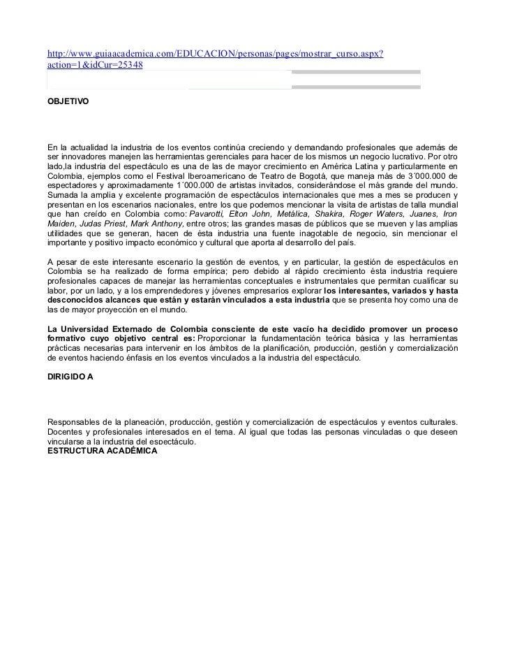 http://www.guiaacademica.com/EDUCACION/personas/pages/mostrar_curso.aspx?action=1&idCur=25348DIPLOMADO GESTIÓN DE EVENTOS ...