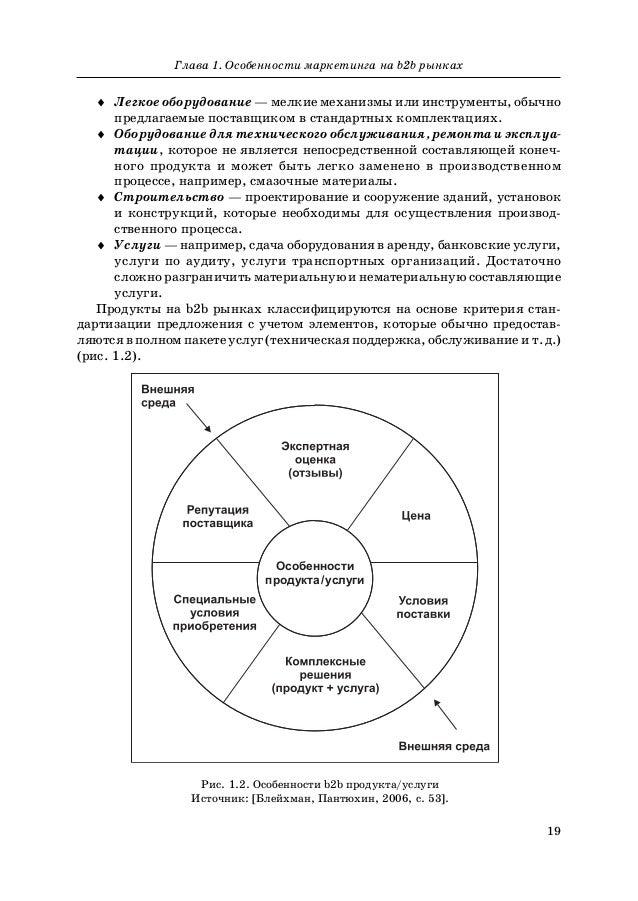 19 Глава 1. Особенности маркетинга на b2b рынках ♦ Легкое оборудование — мелкие механизмы или инструменты, обычно предлага...