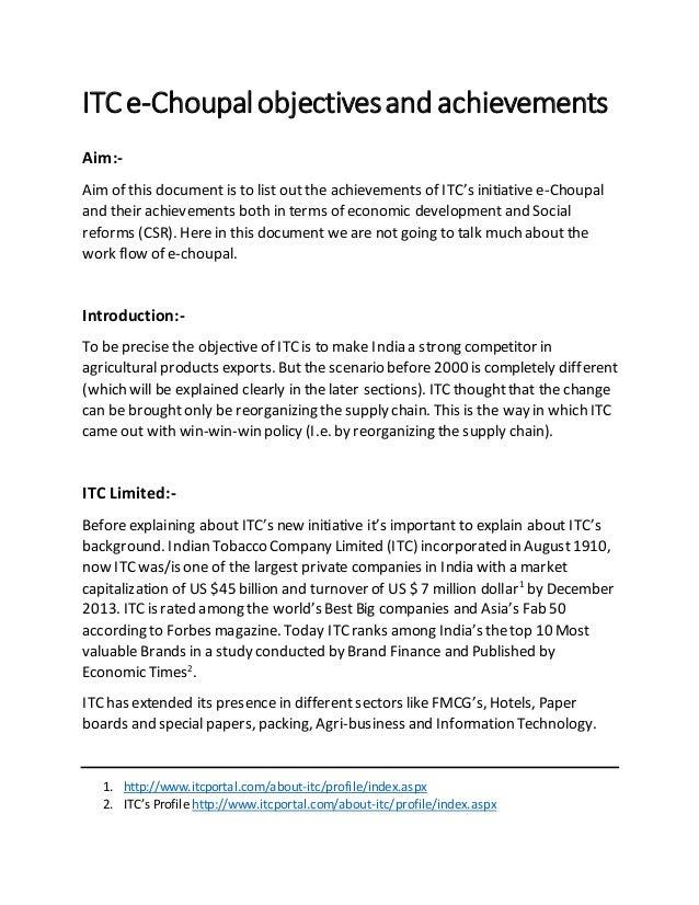 itc e choupal case study for csr