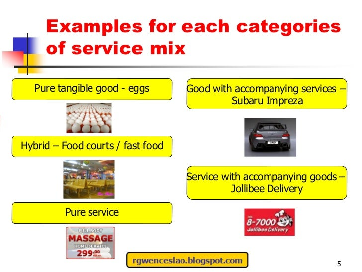 Service mix example