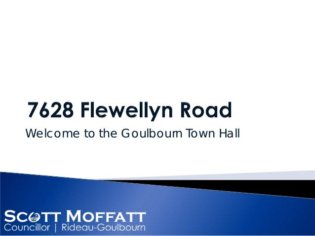 Welcome to the Goulbourn Town Hall
