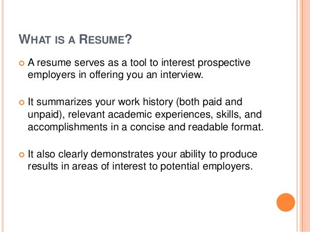 resumes cover letters 3 what is a