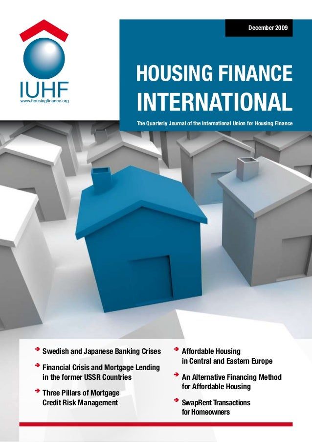 IUHF - Housing Finance International - December 2009