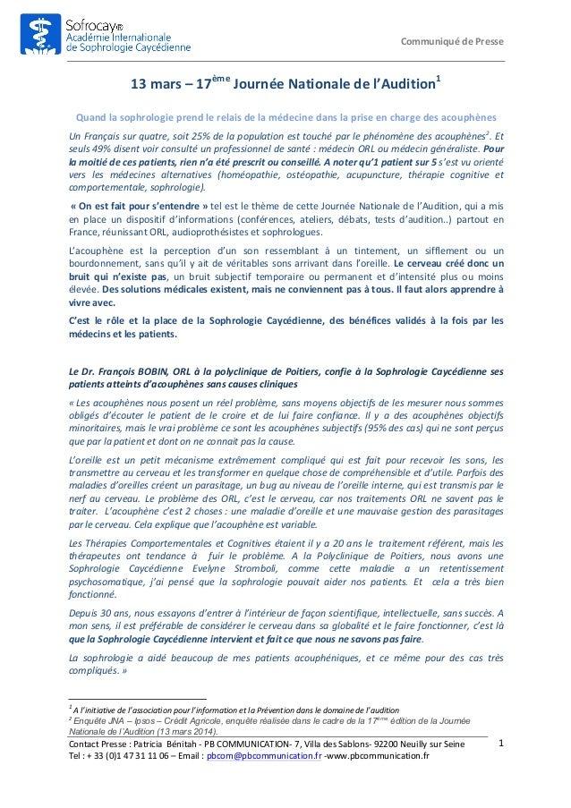 Communiqué  de  Presse   Contact  Presse  :  Patricia    Bénitah  -‐  PB  COMMUNICATION-‐  7,  ...