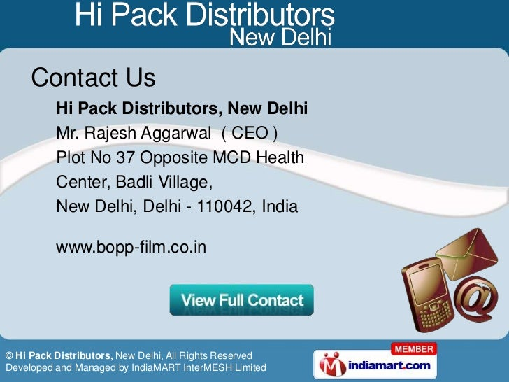 Hi Pack Distributors Delhi India
