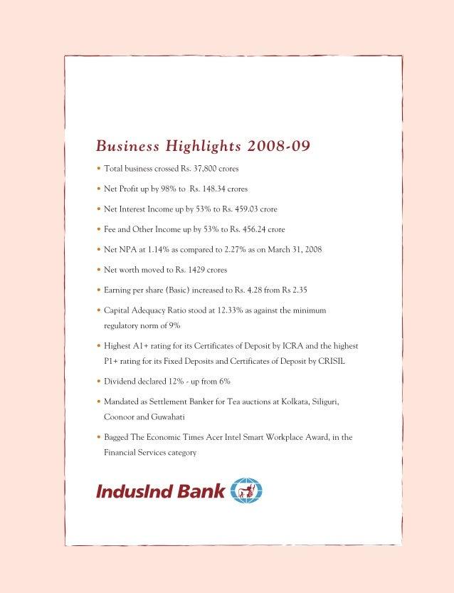 76373332 indusind bank annual report 2008 2009 2 4 spiritdancerdesigns Images
