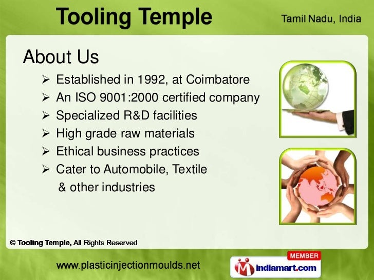 About Us    Established in 1992, at Coimbatore    An ISO 9001:2000 certified company    Specialized R&D facilities    ...