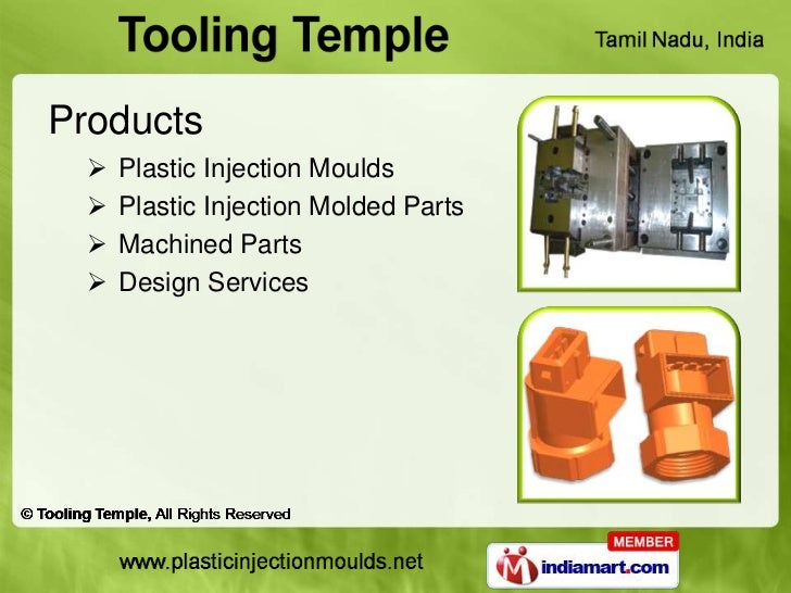 Products     Plastic Injection Moulds     Plastic Injection Molded Parts     Machined Parts     Design Services